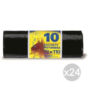 Set 24 PETER Sacchi Bidone Nero 72X110 H-D 10P Rot Pete Igiene E Pulizia Della Casa
