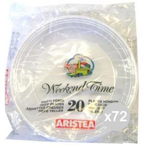 Set 72 ARISTEA 20 Piatto Fondo Gr.7 Diametro 20 152701 Tavola E La Cucina