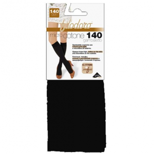 Set 2 FILODORO Micro Cotone 140 Tg 2S Nero Calze Collant Da Donna Abbigliamento