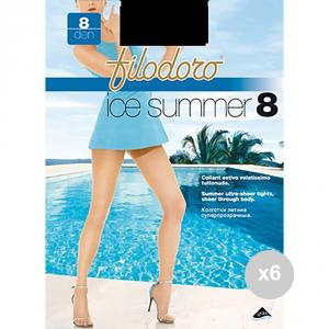 Set 6 FILODORO Summer 8 taglia 3m nero calze da donna