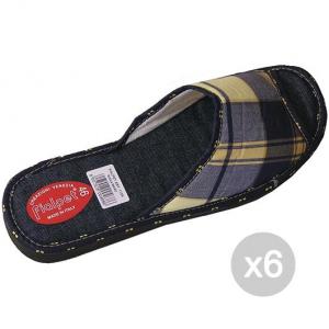 Set 6 FIALPET Slippers 112 Rubber Sole 43- Open-Shoe For Home
