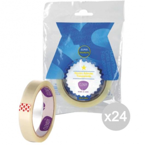 Set 24 CLENDY Tape Transparent 18X66 Mt. 211065 Court And Stationery