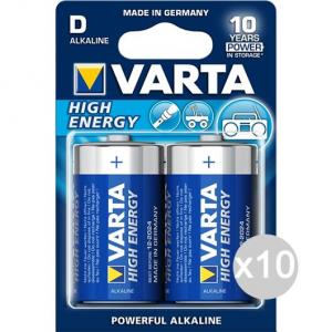 Set 10 VARTA 2 High Energy Torcia Alkaline Pila Batteria Elettrica
