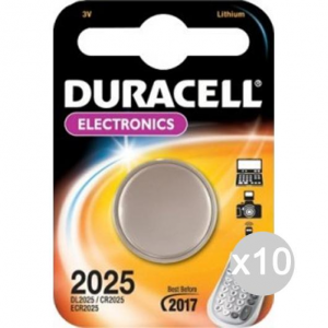 Set 10 DURACELL 1 Lithium 3V. Dl2025 Round Electr Sony Battery Battery Power