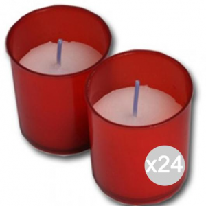 Set 24 Lumini U Short X 4 Red 10B/4107 Fragrance And Decoration House