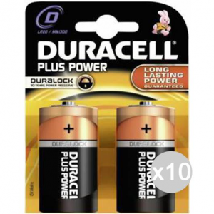 Set 10 DURACELL 2 Torch Mn1300 D Lr20 Battery Stack Electric