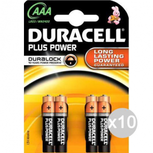 Set 10 DURACELL 4 Ministilo Mn2400 Aaa Lr03 Pila Batteria Elettrica