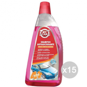 Set 15 Auto Shampoo Lt 1 Lava Und Poliertes Vete Car Cleaning