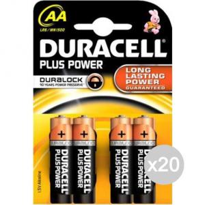 Set 20 DURACELL 4 Stilo Mn1500 Aa Lr6 Pila Batteria Elettrica