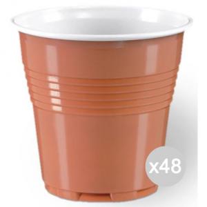 Set 48 ARISTEA 100 Bicchiere 80 Cc Marrone 208066 Accessorio Per La Cucina E La Tavola