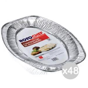Set 48 ROTOFRESH Vassoio Alluminio C11 Portata Media X1 Preparazione Cibi E Cucina