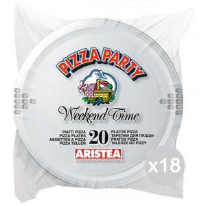 Set 18 ARISTEA 20 Piatto Pizza Party Diametro 32 Accessorio Per La Tavola E La Cucina