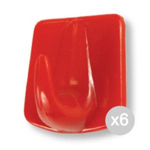 Set 6 GABBIANO 10083 Ventosa Con Gancio 4Pezzi Color Mini Organizzazione Della Casa