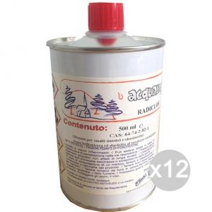 Set 12 Acqua Ragia Ml 500 Lattina Radiclor Solvente Per Cera