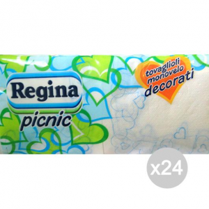 Set 24 REGINA Towels 33X33 Picnic X180 1 Velo Accessory For Cooking And Table