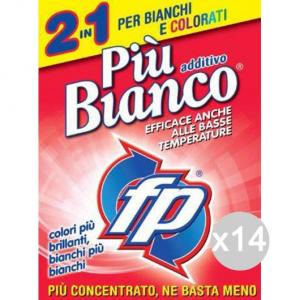Set 14 EFFEPI Bianco Piu' Additivo Gr 900 Detersivo Lavatrice E Bucato