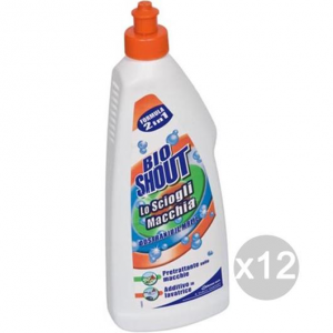 Set 12 BIO SHOUT Liquido Ml 500 Detersivo Lavatrice E Bucato