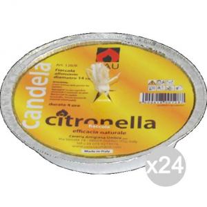 Set 24 CITRONELLA U 128B Alluminio Fiaccola 14X2H Repellente Insetticida