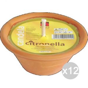 Set 12 CITRONELLA U 114D Terracotta Fiaccola 11X5H Repellente Insetticida