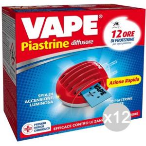 Set 12 VAPE Fornel Spina +10 Piastrine 91100 Box Repellente Insetticida