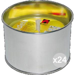 Set 24 CITRONELLA U 124 Alluminio Fiaccola 10X7H Repellente Insetticida