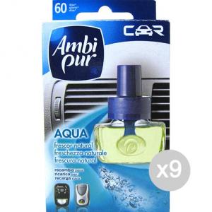 Set 9 AMBI PUR Car Ricarica Aqua Fresh Profumazione E Decorazione Della Casa