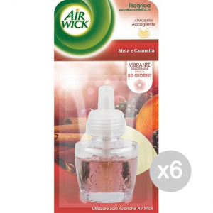Set 6 AIR WICK Electric Charging Apple/Canela Colletion 2 Scent Of The House