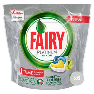 Set 6 FAIRY Caps 10 platinum limone prodotto per la pulizia della casa