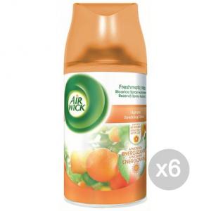Set 6 AIR WICK Fresh Matic Recharge-Citrus Citrus Fragrance And Decoration