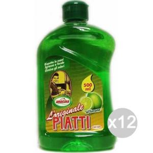 Set 12 AMA Piatti Ml 500 Conc. Limone Ex Dilly Detersivi E Pulizia Della Casa