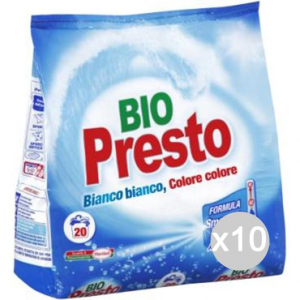 Set 10 BIO PRESTO 20 Misurini Polvere Lavatri Detersivo Lavatrice E Bucato