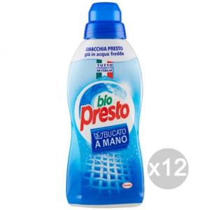 Set 12 BIO PRESTO Bucato Liquido Ml 750 Detersivo Lavatrice E Bucato