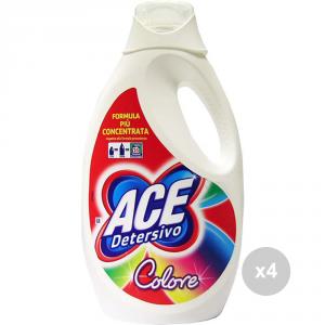 Set 4 ACE Lavatrice 25 lavaggi colore nuovo detersivo per il bucato