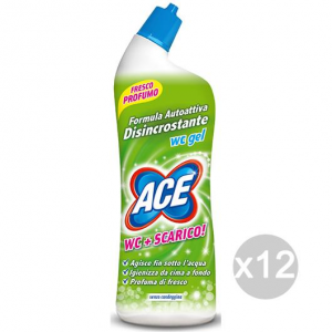 Set 12 ACE Wc Gel 700 Ml Disincrostante Cleaners And Cleaning The House