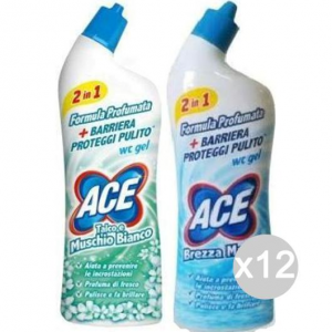 Set 12 ACE Wc Gel Brezza Marina 700 Ml Detersivi E Pulizia Della Casa