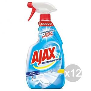 Set 12 AJAX Spray Spray Bagno 600/750 New Detersivi E Pulizia Della Casa