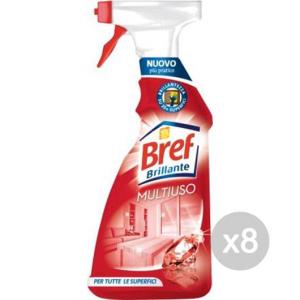 Set 8 BREF Brillante Multiuso 750Ml Spray Detersivi E Pulizia Della Casa