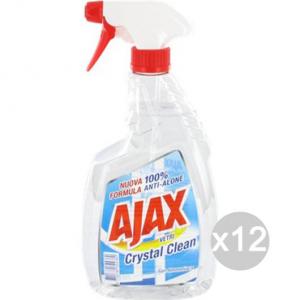 Set 12 AJAX Spray De Vidrio De Limpieza 750 Ml De Cristal Limpio Y Limpieza De La Casa