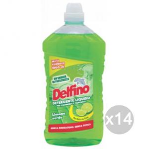 Set 14 DELFINO Pavimenti Limone Lt 1 Detersivi E Pulizia Della Casa