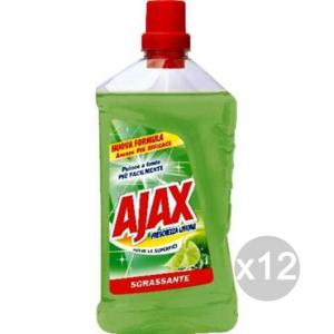 Set 12 AJAX Liquido Limone Lt 1 Pavimenti Detersivi E Pulizia Della Casa