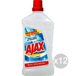 Set 12 AJAX Liquido Classico Lt 1 Pavimenti Detersivi E Pulizia Della Casa