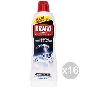 Set 16 DRAGO Pulisan Anticalcare 750 Et Nettoyant La Maison De Nettoyage