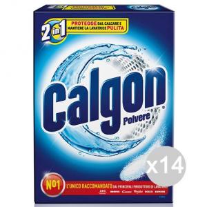 Set 14 CALGON E 2 Polvere Gr 850 Astuc.(Calfort) Detersivi E Pulizia Della Casa