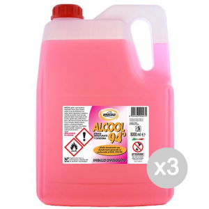 Set 3 AMA Alcohol 5000 Ml 94 Grados Cleaners Desnaturaliza Y Limpieza De La Casa