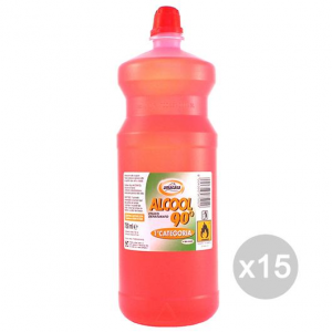Set 15 AMA Alcool 750 Ml Denaturato Dilly Detersivi E Pulizia Della Casa