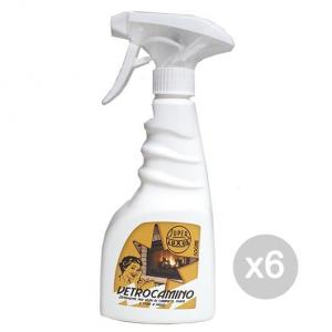 Set 6 Vetro Camino Detergente Spray 500 Ml Caminetti Accessorio Per Camino