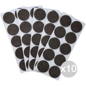 Set 10 Felt Chair Stickers Brown Diameter 28 Accessory For Home