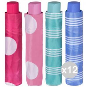 Set 12 PERLETTI 12260 Umbrella Short Women'S Manual Pois To Bag