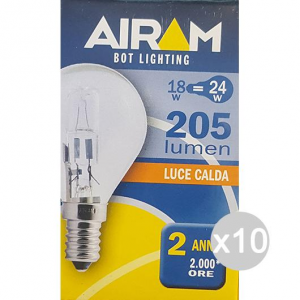 Set 10 AIRAM Halogen Ball Clair 230V 18W E14 Light House