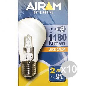 Set 10 AIRAM Drop Clear Halogen 70W E27 230V Light House